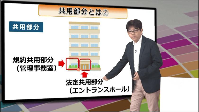 スタディングのマンション管理士・管理業務主任者 講義スマホ画面08(管理法令C3-共用部分(1))